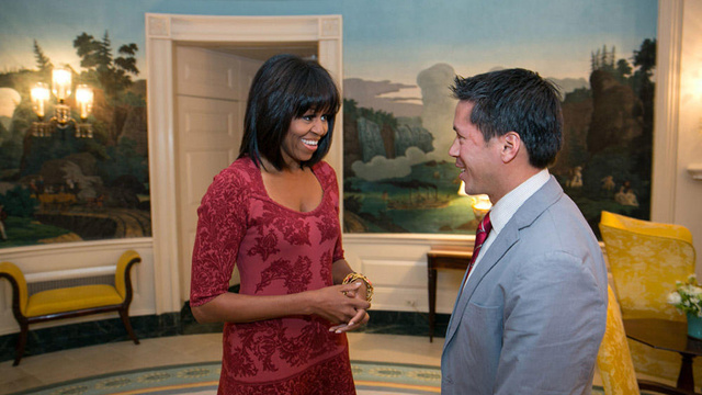 Are Michelle Obama's Bangs the New Michelle Obama's Arms?