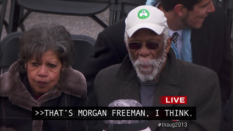 Inauguration Day In Post-Racial America: George Stephanopoulos Thinks Bill Russell Looks Like Morgan Freeman