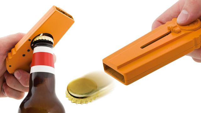 Click here to read Bottle Opening Cap Launcher Lets You Be a Jerk Before You've Even Finished Your First Beer