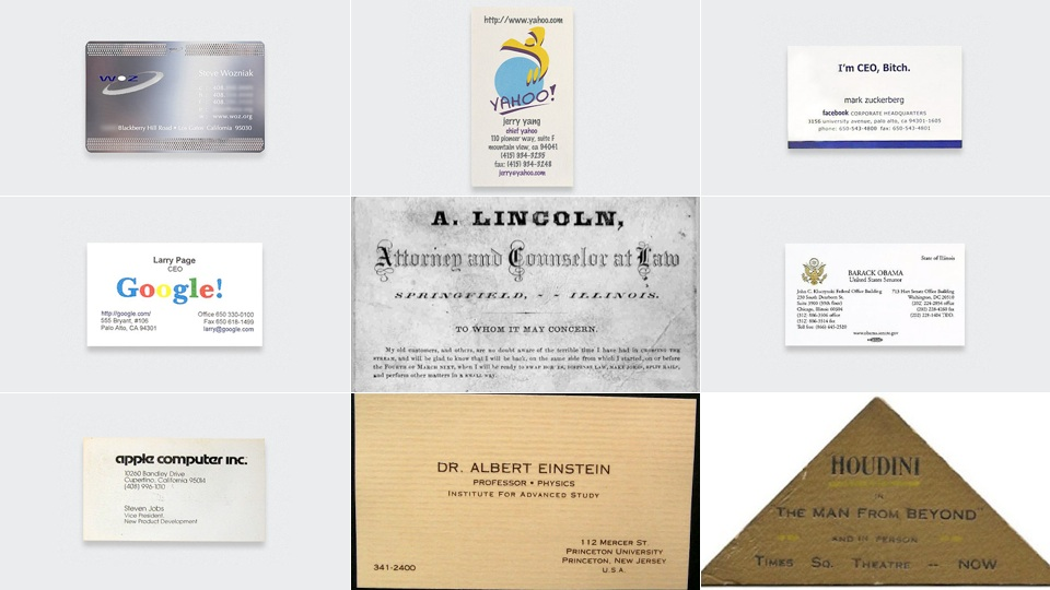 Here Are The Business Cards Of Famous People | Gizmodo Australia