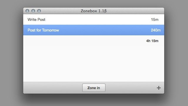 ZoneBox Is a Simple Mac App that Allots and Tracks Time for Specific Projects