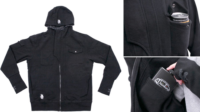 Click here to read Drinkmaster Hoodie Keeps You Warm and Drunk On a Cold Night Out