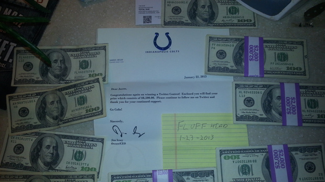 Jim Irsay Mailed A Fan $8,500 In Cash For Predicting The Score …