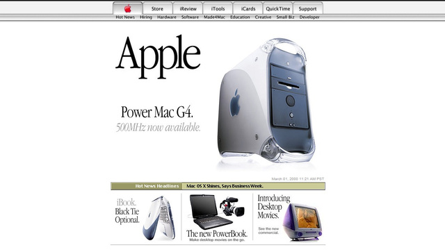 Every Apple.com Homepage From the Last 15 Years
