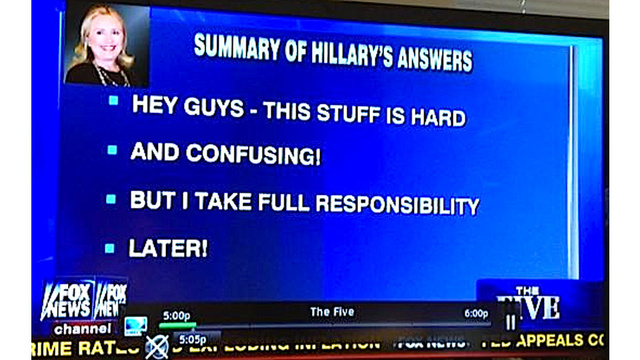 This Ridiculous Fox News Summary of Hillary Clinton's Testimony Must Be Seen to Be Believed