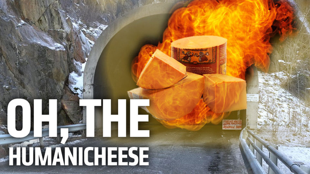 Truckload of Flaming Goat Cheese Closes Tunnel In The Most Delicious Disaster Possible