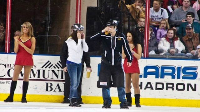 Rapid City Rush Indeed: Minor League Hockey Team's Beer-Chugging Intermission Show Results In Fans Puking On The Ice