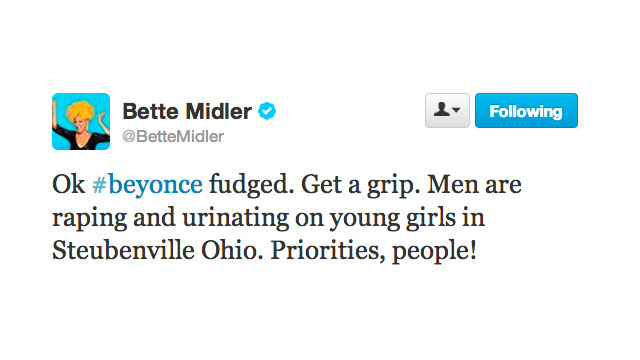 Bette Midler Reminds Us What a Real Scandal Is