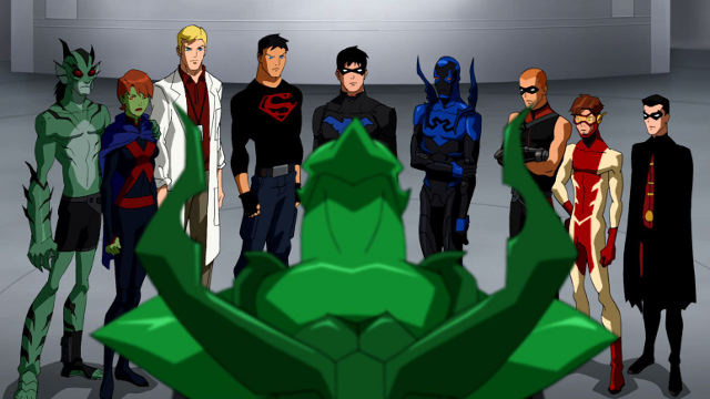 Green & Red Lanterns square off while Deathstroke appears on Young Justice