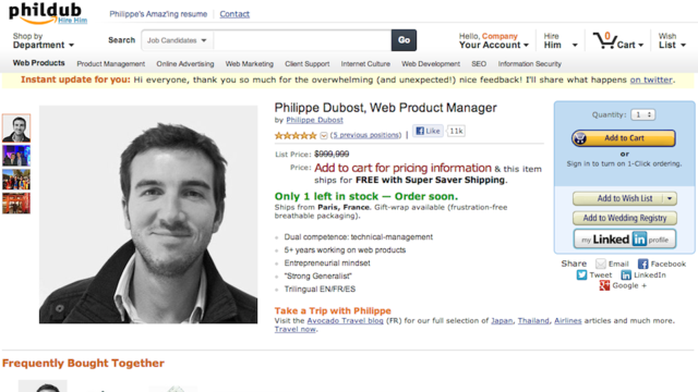 Click here to read This Clever Resume That Looks Like an Amazon Page Is So Good I Would Buy It
