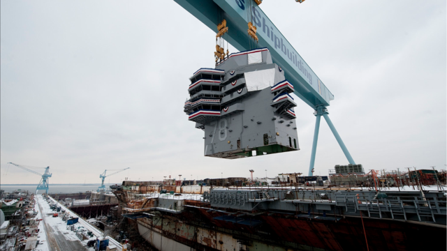 Click here to read This Is How You Build a Ford-Class Supercarrier