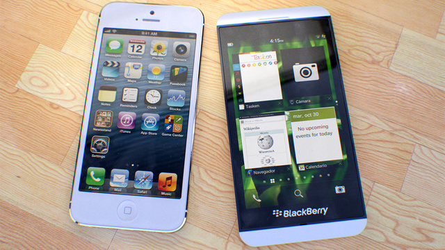 BB 10 Vs iPhone 5