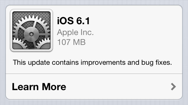 Apple Releases iOS 6.1, Improves Siri and iTunes Match