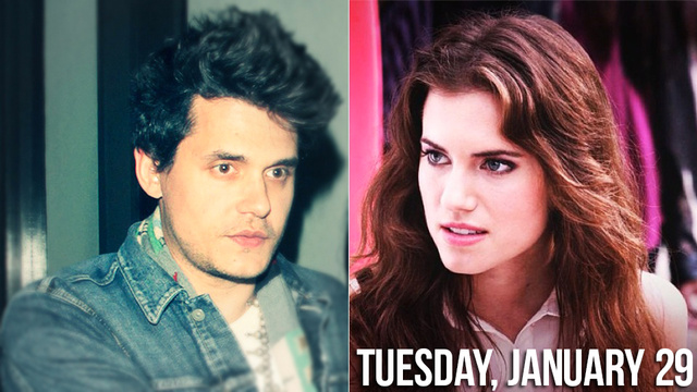 Serial Dater John Mayer Lurches Over To Allison Williams