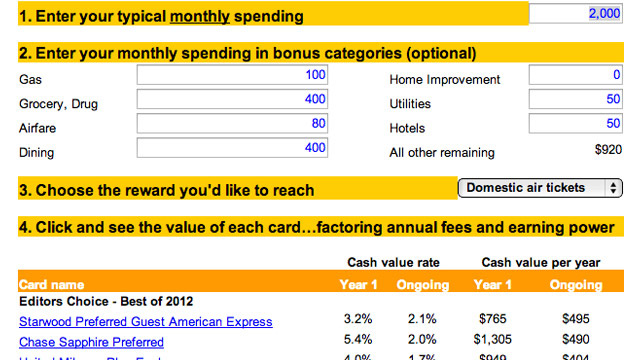 The MileCards Calculator Finds the Best Travel Credit Card for Your Needs
