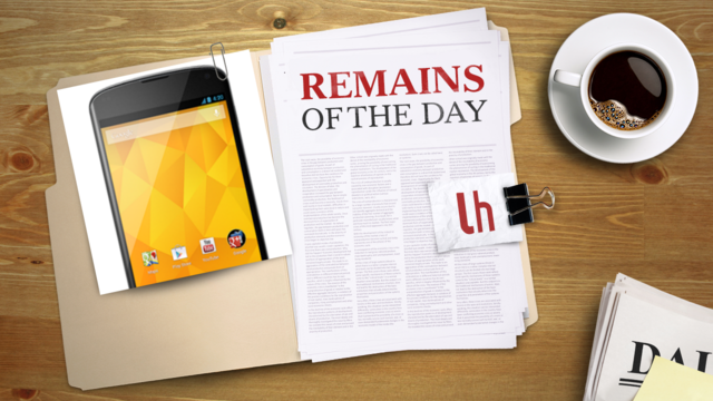 Click here to read Remains of the Day: The Nexus 4 Is Finally Available Again on Google Play
