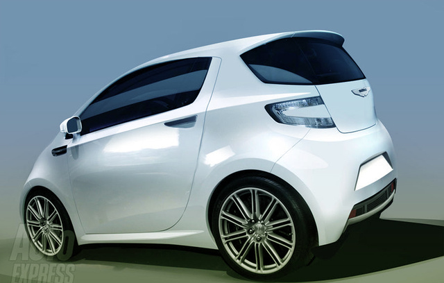 Aston Martin Cygnet City Car Rendered