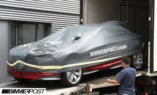BMW Sports Car Concept Spied On Way To Frankfurt