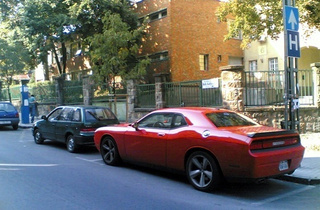 Dodge Challenger Takes On Hungary, Blots Out Entire Country