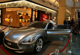 $2.4 Million Infiniti Essence Concept Visits Suburban Detroit Louis Vuitton Store
