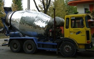 Meet the Concrete Mixer Truck with Disco Powers