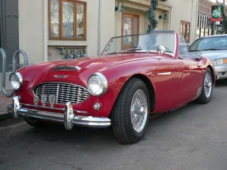 Austin-Healey 100-Six Down On The Denver Street