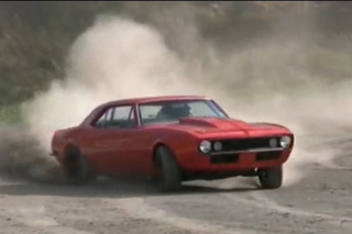 454-Equipped '67 Camaro Terrorizes Swedish Streets, Drifts Dirt Track