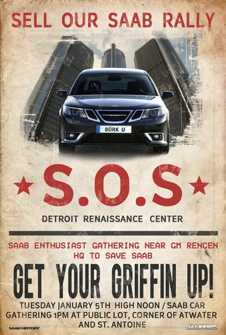 S.O.S.: Sell Our Saab Rally Poster!