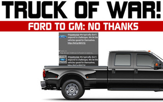 "Ford Say ""Truck No"" To GM Tug-Of-War Challenge"