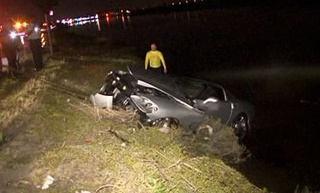 Driver Saved From Sinking Corvette After 150 MPH Intoxicated Joyride