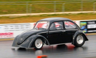 Electric Beetle Spanks Tesla Roadster In Drag Race