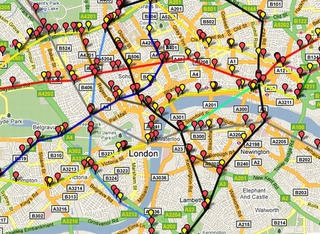 London Underground Trains Displayed In Real-Time