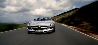 Mercedes SLS Fastest Car Shot In 3D At 162 MPH