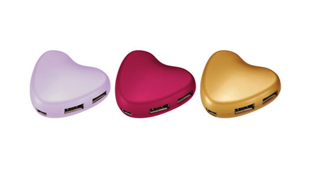 Click here to read A Heart-Shaped USB Hub Is Full of Love and Ports