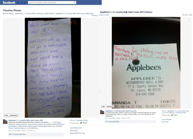 Applebee's Responds to Fired Server Scandal, Claims Waitress Disregarded a Company Policy That Gets Disregarded All the Time