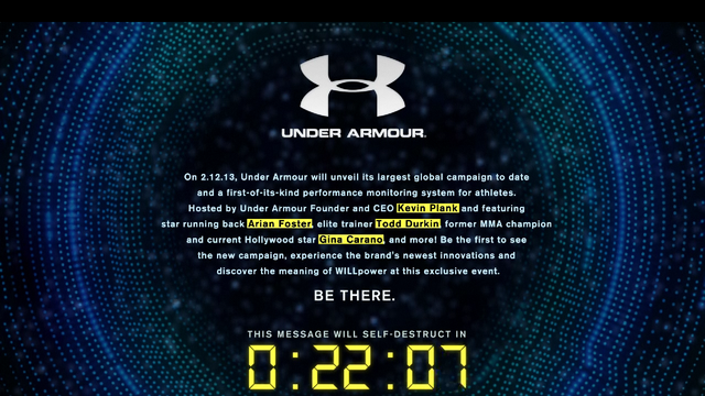 "Under Armour Teases Some Kind of ""Performance Monitor"""