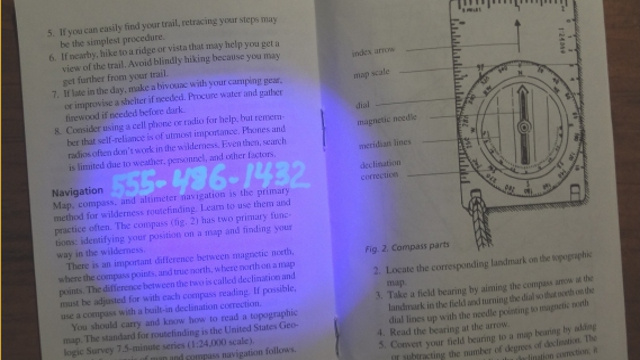 Click here to read Keep Essential Information Hidden in Plain Sight with a UV Pen
