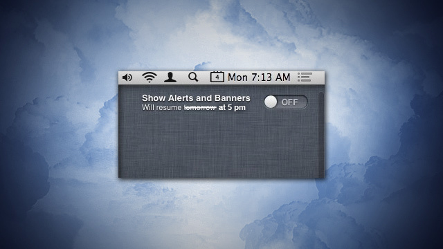Automate Mountain Lion's Do Not Disturb with an Applescript