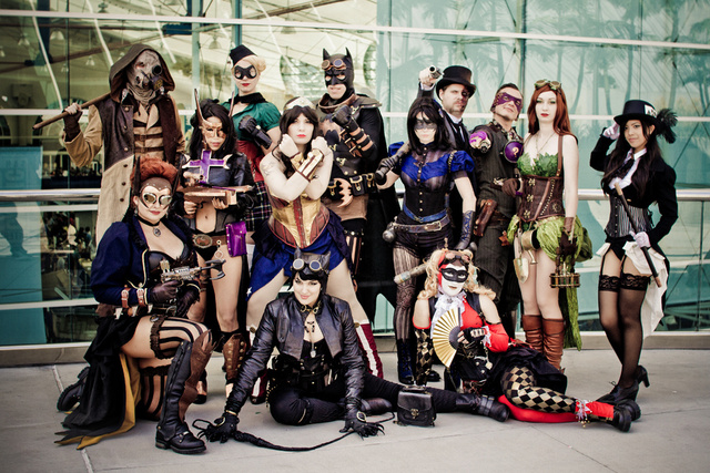 Batman and his Sexy, Steampunk and Occasionally Gender-Swapped DC Bat-Family