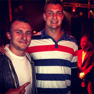 Here's A Photo Of Johnny Manziel And Rob Gronkowski Wearing Shirts And