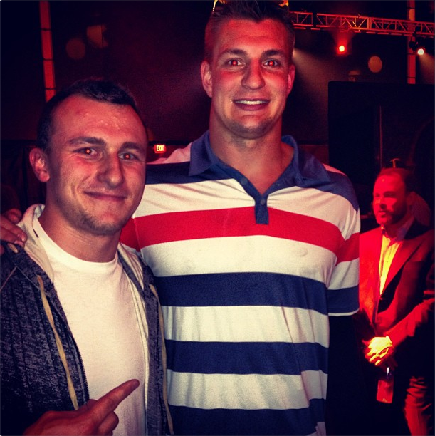 Here's A Photo Of Johnny Manziel And Rob Gronkowski Wearing Shi…