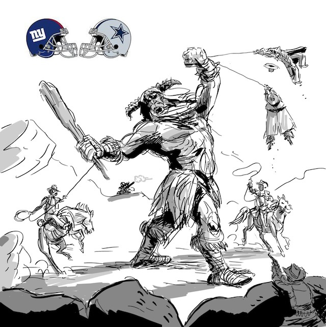 A Pixar Animator Sketches The NFL Season