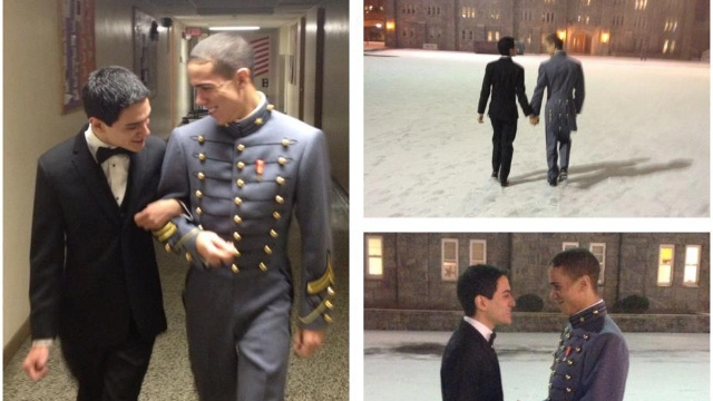 West Point Alumni Group Proudly Posts Photos of Gay Cadet Taking Boyfriend to Winter Formal