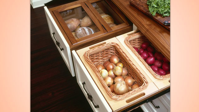 DIY Drawers Store Onions, Bread, and Other Food Out of Sight