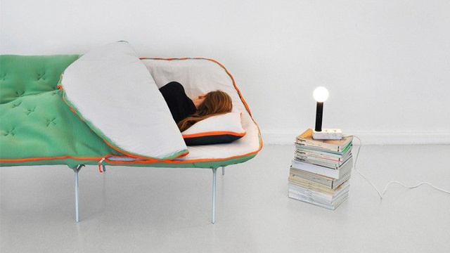 Click here to read This Sofa Brings the Campsite Indoors