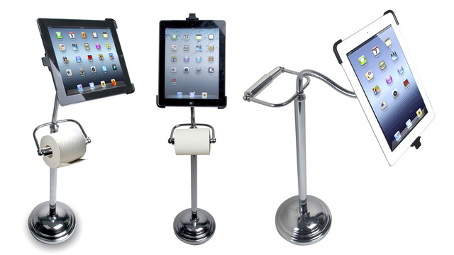Click here to read Secretly We All Want This Toilet-Paper-Holding iPad Stand