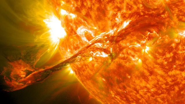 This is what a solar flare sounds like here on Earth