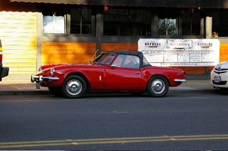 Triumph Spitfire Down On The Seattle Street