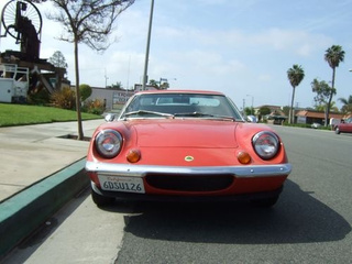 Lotus Europa Down On The Los Angeles Street