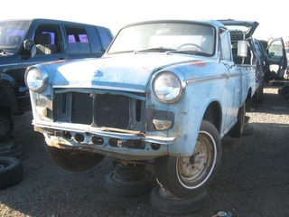 1965 Datsun 1200 Pickup Truck Down On The Junkyard